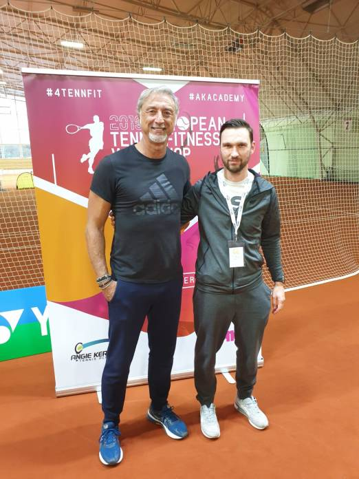 Łukasz Musiał założyciel i trener tenisa I klasy z Marco Panichi