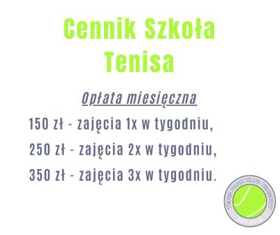 Cennik Szkoła Tenisa
